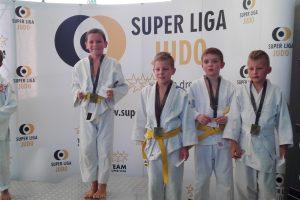 Daniel Książek na I miejscu. Turniej judo w Strzelinie.